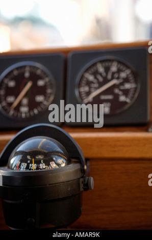 Schiffs-Kompass Stockbild