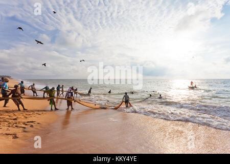 Angeln in Sri Lanka, Asien Stockbild