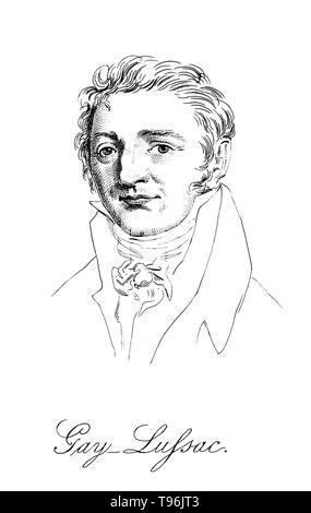 Joseph Louis Gay-Lussac (Dezember 6, 1778 - Mai 9, 1850) war ein französischer Chemiker und Physiker für seine Studien über die physikalischen Eigenschaften der Gase bekannt. Seine erste große Untersuchung der thermischen Ausdehnung von Gasen. Dies war bei der Gründung der Kelvin Temperatur Skala später im Jahrhundert. Im Jahre 1805 arbeitete er mit Alexander von Humboldt bei der Bestimmung der Anteile von Wasserstoff und Sauerstoff in Wasser. Stockbild