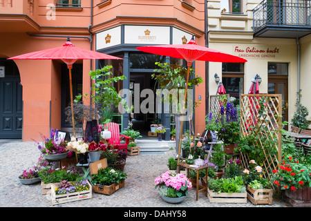 Blumenladen in böhmischen Prenzlauer Berg in Berlin Deutschland Stockbild