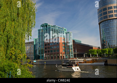 Hotel Sorat und Department of the Interior and Hotel Abion, Berlin Stockbild
