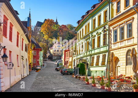 Sighisoara Altstadt, Siebenbürgen, Rumänien, Unesco Stockbild