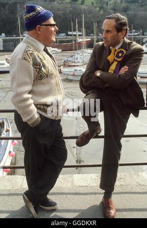 Jeremy Thorpe MP mit konstituierenden 1979 Devon UK HOMER SYKES Stockbild