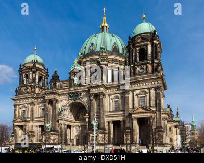 Vorderansicht des historischen alten Berliner Dom, Berlin, Deutschland, Europa - Berliner Dom Stockbild