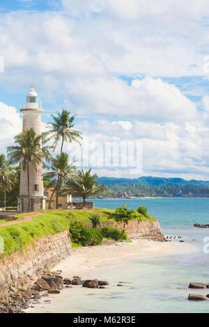 Galle, Sri Lanka, Asien - Besuch der Strand in der Nähe der alte Leuchtturm von Galle Stockbild