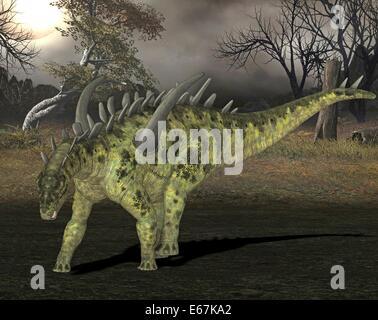 Dinosaurier Gigantspinosaurus / Dinosaurier Gigantspinosaurus Stockbild