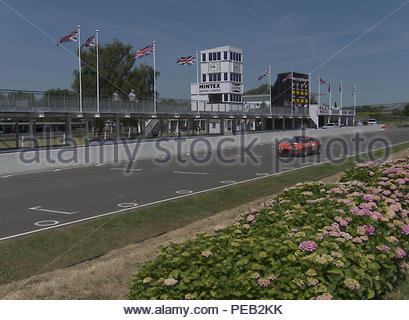 Goodwood Motor Race Track Sussex England Stockbild