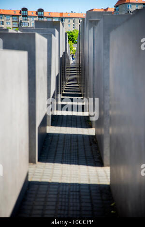 Holocaust-Mahnmal, Berlin, Deutschland Stockbild