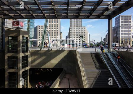 Berlin. Deutschland. Potsdamer Bahnhof Bahnhof Potsdamer Platz. Stockbild