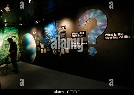 11. Januar 2007, ist Santee Museum der Schöpfung und Erdgeschichte in Santee das einzige Museum in der Stadt Stockbild