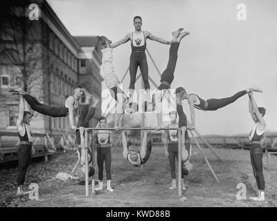 Woodberry Forest School Gymnastikmannschaft, Ca. 1920er-Jahre. Die alle männlichen private Schule noch existiert, Stockbild