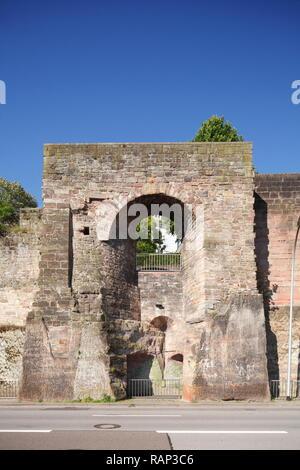 Saarbrücker Schlossmauer, Saarbrücken, Saarland, Deutschland Stockbild