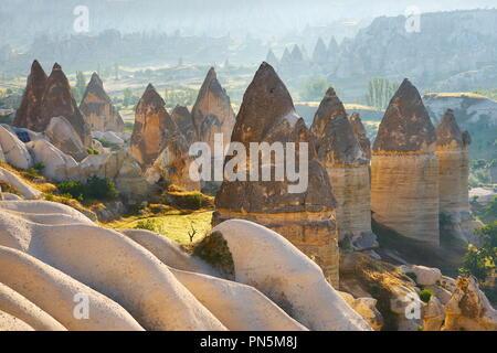 Felsformation Feenkamine in Liebe Tal, Kappadokien, Türkei Stockbild