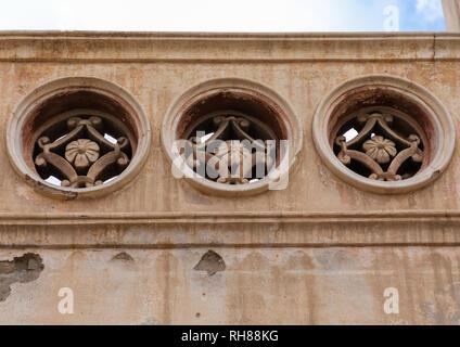 Abdullah al-Suleiman Palace architektonisches Detail, Mekka Provinz, Taïf, Saudi-Arabien Stockbild