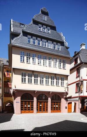 Rekonstruierten historischen Haus Fassade, neue Altstadt, Dom-Römer-Areal, Frankfurt am Main, Hessen, Deutschland, Europa Ich rekonstruierte historische Hausfassad Stockbild
