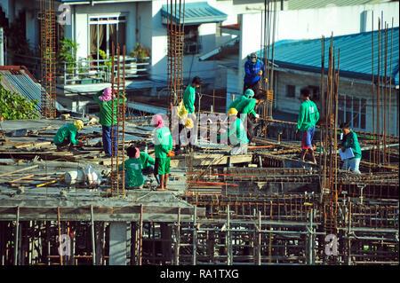 Baustelle, Cebu City, Philippinen Stockbild