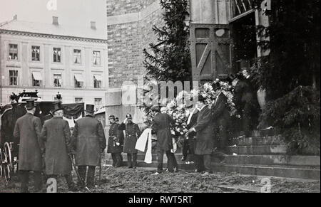 HENRIK IBSEN (1828-1906), norwegischer Dramatiker. Oslo Beerdigung im Juni 1906. Stockbild