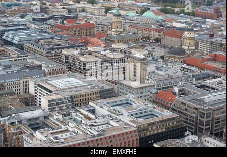 Friedrichstag im Bereich der Mitte von berlin Stockbild