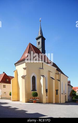 Spitalkirche, Günzburg, Schwaben, Bayern, Deutschland, Europa ich Spitalkirche, Günzburg, Schwaben, Bayern, Deutschland, Europa I Stockbild