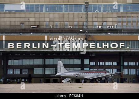 Deutschland, Berlin, ehemaligen Flughafen Berlin-Tempelhof Stockbild