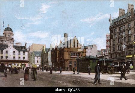 Glasgow, Schottland - St. Enoch's Square. Stockbild