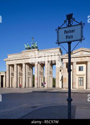 Brandenburger Tor, Pariser Platz, Berlin, Deutschland Stockbild