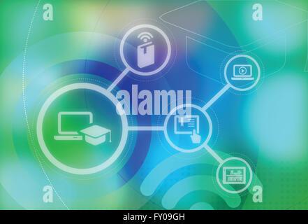 Online-Bildung-Konzept Stockbild