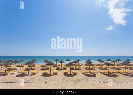 Portugal - Algarve Vale do Lobo - Sommer am Strand von Valverde poente - Europa Stockbild