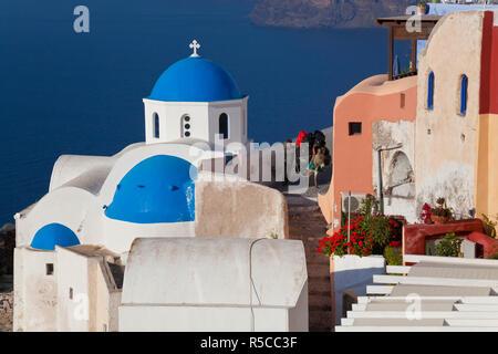 Pack Esel, Oia, Santorini, Kykladen, Griechenland Stockbild