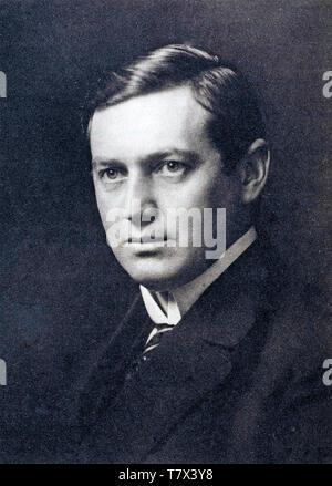 KARL MANNE SIEGBAHN (1886-1978), schwedischer Physiker im Jahre 1924, nachdem er den Nobelpreis für Physik Stockbild