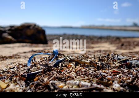 Nahaufnahme des Schmutzes auf Strand Meer Stockbild