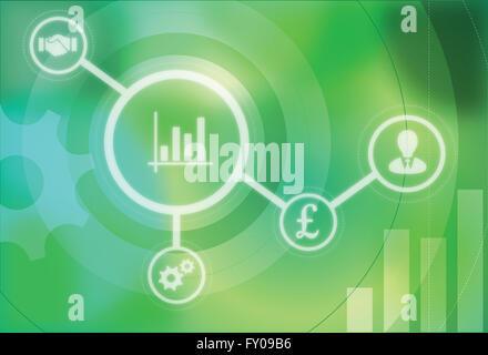 Anschauliches Bild stellvertretend für das Konzept der Geschäftsentwicklung Stockbild