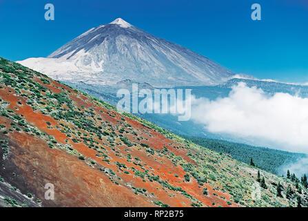 Teide, Teneriffa, Kanarische Inseln, Spanien, Europa, Stockbild