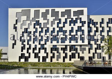 WU (Wirtschaftsuniversität Wien) Universität für Wirtschaft und Business Campus Gebäude in der Leopoldstadt Wien Österreich Europa. Stockbild