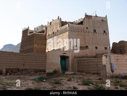 Altes Dorf von traditionellen Schlamm Häuser, Asir Provinz, Ahad Rufaidah, Saudi-Arabien Stockbild