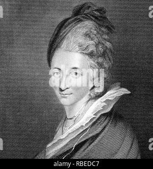 HESTER THRALE (1741-1821) Welsh tagebuchschreibers und Schirmherr der Künste im Jahr 1781 Stockbild