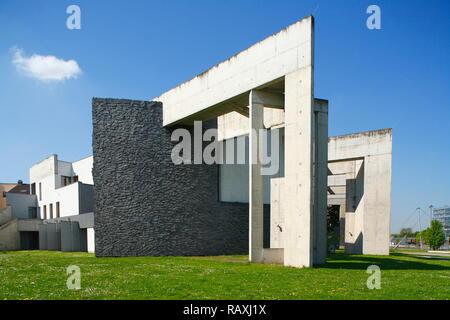 Juedisches Gemeindezentrum im altstadtpark am Innenhafen Duisburg, Ruhrgebiet, Nordrhein-Westfalen, Deutschland Stockbild