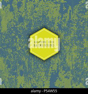 Grunge style Rasterpunkte Hintergrund Stockbild