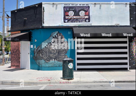Wynwood Lane, Miami, Florida, USA Stockbild