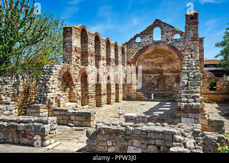Die Ruinen der Kirche St. Sophia, Nessebar, Bulgarien Stockbild