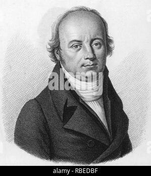 FRANZ JOSEPH GALL (1758-1828) Deutsche Neuroanatom und behauptete, Gründer von phroenology Stockbild