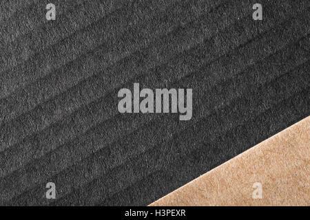 Horizontales Bild von schwarzen und braunen Pappen. Luxus-Hintergrund mit zwei Teilen Stockbild