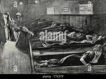 WOMEN'S SCHLAFPLATZ im Osten Londons Ende 1880 Stockbild