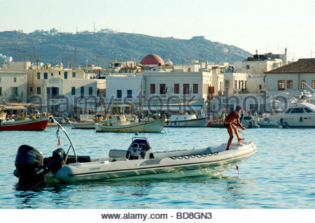 MYKONOS IN GRIECHENLAND Stockbild