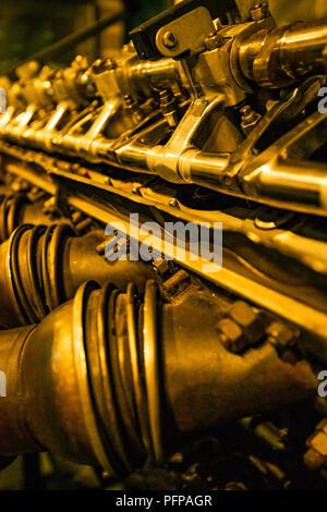 Aircraft Engine closeup Stockbild