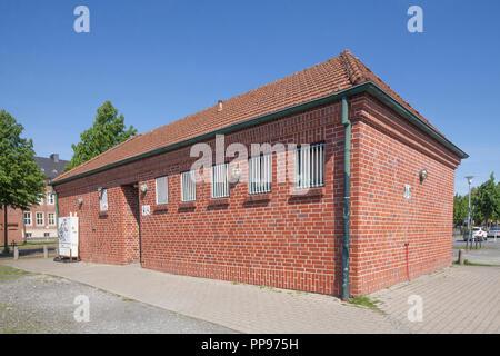 Wc Haus, Münster in Westfalen, Nordrhein-Westfalen, Deutschland, Europa ich Toilettenhaus, Münster in Westfalen, Nordrhein-Westfalen, Stockbild