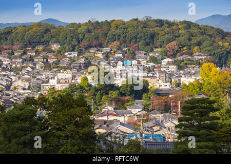 Blick von Ginkakuji Temple, UNESCO-Weltkulturerbe, Kyoto, Japan, Asien Stockbild