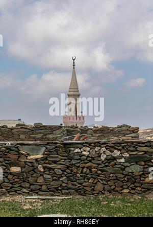 Moschee in al-Namas, Al-Bahah region, Altawlah, Saudi-Arabien Stockbild