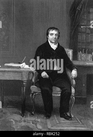 JOHN JACOB ASTOR (1763-1848) Deutsch-amerikanischer Geschäftsmann Stockbild