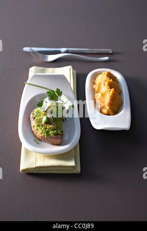 Kalbfleisch Medaillon Stockbild